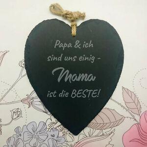 Schieferherz Mama ist die Beste Schiefer Muttertag Mutter Geschenk Liebe