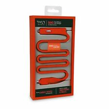 Micro USB Car Charger with additional USB Port Dual Charging TYLT BAND Cable