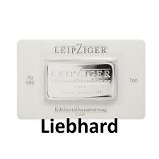 1 OZ Silberbarren / Silver Bar 999 Feinsilber / Finesilver LEV in Coincard