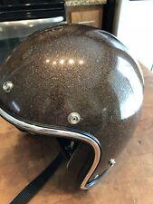 VTG 1970s ARTHUR FULMER AF20 HELMET Large Brown Metal Flake Medium
