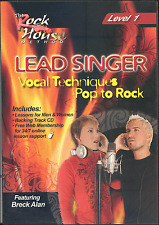 Lead Singer Vocal Techniques DVD Level 1 Pop To Rock & Backing Tracks CD Voice