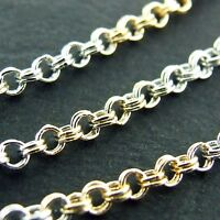 NECKLACE PENDANT CHAIN GENUINE REAL 18K MULTI-TONE G/F GOLD SOLID ANTIQUE DESIGN