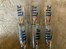 MILLER LITE BEER GLASSES 16oz * LOT OF 6 * NEW