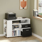 2-Drawer+File+Cabinet++Printer+Stand+with+Storage+Shelves+with+Storage+Shelves+