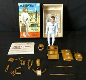 Vintage Johnny Apollo by Marx Action Figure Box Complete NASA Astronaut 1960's