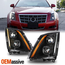 For 2008 2014 Cadillac Cts Dual Projector Switchback Led Headlight Assembly Fits 2010 Cadillac Cts