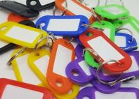 Key Ring Tags*Mixed Colours*Various quantities available* Pack of 50