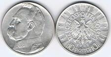 10 Zl Muenze Josef PILSUDSKI 1939!! Silber 22gr.!! ,  Raritaet