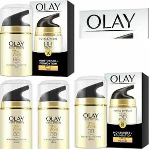Olay Total Effects 7-in-1 BB Cream,moisturiser+ MEDIUM & Fair foundation 50ml