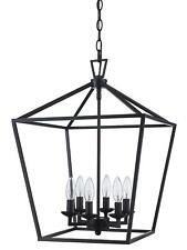 "Trans Globe Lighting 10266 ROB Lacey Colonial Pendant, 16"" Rubbed Oil Bronze"