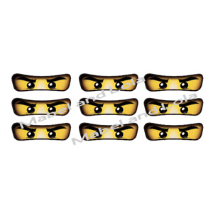 16 Ninjago Eyes Birthday Party STICKERS for Favor Bags