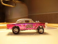 "Hot wheels super ** CUSTOM **  55 CHEVY GASSER CANDY STRIPER ""  treasure hunt"