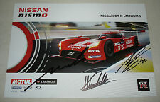 Le Mans 2015 FIA WEC Nissan Motorsports GT-R LM Nismo Car #22 Autographed Card