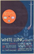 White Lung / Greys 2016 Minneapolis Concert Tour Poster - Punk/Indie Rock Music