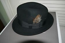 NIB Royal Stetson SAXON Fur Felt Hat ~ Black