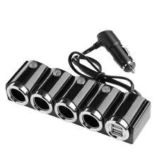 4 Fach Verteiler KFZ Auto Zigarettenanzünder Ladegerät Adapter Dual USB 12~24V