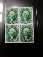 US Stamps 1855 10C Washington Block Facsimile Copy Place Holder