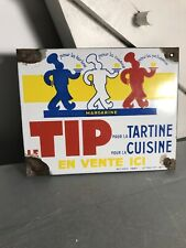 Tres Rare Plaque Emaillee Pub Ancienne TIP (collection) Japy