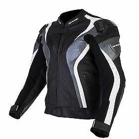 Spada Curve Leather motorcycle Jacket Sport Race  Black/Grey 42