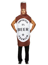 Mens Adult One Size Beer Bottle Fancy Dress Costume Ideal For Party Stag Night