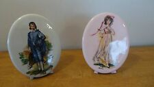 Blue Boy Gainsborough & Pinky Lawrence ceramic plaque with stand