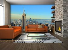 GIGANTE Murale Parete Photo carta da Parati New York Skyline Cityscape Home Decor 360x254cm