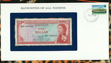 *Banknotes of All Nations East Caribbean 1 Dollars 1965 AUNC P13g Serie B83