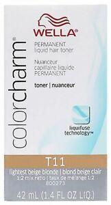 Wella Couleur Breloque Permament Liquide Cheveux Tonique Léger Beige Blond T11