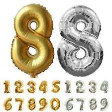 16 Inch Aluminum Film Arabic Digital Balloon 0-9 Party Decor Ornaments Ballons