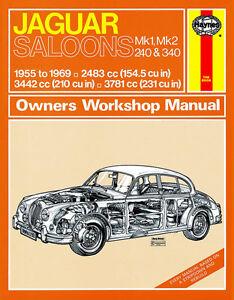 0098 Haynes Jaguar MkI and II, 240 and 340 (1955 - 1969) up to H Workshop Manual