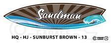 Holden HQ / HJ SANDMAN Surfboard Shaped - XXL Sticker - STARBURST BROWN - 13