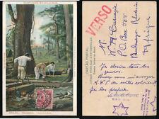 BRAZIL 1914 PPC FALQUEJADORES WOOD LOGGERS to RHODESIA...P da SILVA HANDSTAMP