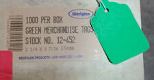 1000 Strung Jewelry Garment Merchandise Tags 2 14 X 1 716 Strings 3 Colors