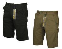 Mens  Kam Chino Shorts Expandaband Waist In Black Taupe Colours Latest 30 - 38