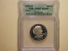 1981-S Susan B. Anthony Dollar ICG PRG 67 DCAM Type 1