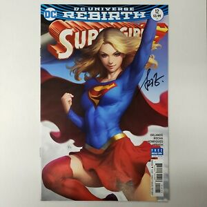 Supergirl #12 Variant Stanley Artgerm Lau Cover SIGNED BY ARTGERM NM DC Comics