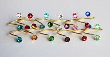 Birthstone Toe Ring Silver/Gold/Rose Gold made with Swarovski Crystal Elements