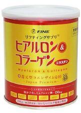 Fine Hyaluron & Collagen Fish Collagen coenzyme Q10 196g 28days New Japan