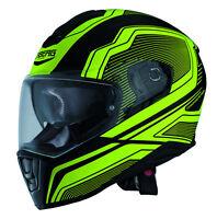 Caberg Drift Flux Matt Black/Yellow Full Face Motorcycle Motorbike Helmet