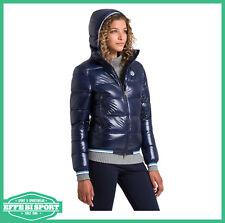 Giacca invernale donna North Sails giaccone con cappuccio giubbotto bomber blu
