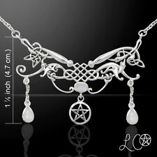 Laurie Cabot Pentacle Celtic Fairy Queen .925 Sterling Silver Necklace