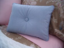 NEW Custom Ralph Lauren Boathouse Blue Oxford Accent Pillow 1 Button