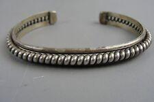 Vintage Native THAE Sterling Silver Cuff Bracelet