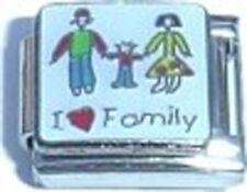 Italian Charm I Red Heart Love Family Wife Husband Kid