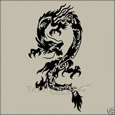Reusable airbrush stencils Temporary Tattoo Stencils - Dragon in A4 size