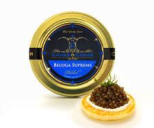 1oz jar of River Beluga Kaluga Hybrid Caviar - Russian Mini Blini 36pcs