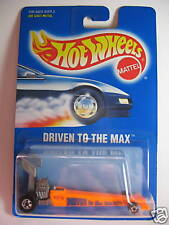 HOT WHEELS #245 BLUE CARD DRIVEN TO THE MAX NEON ORANGE