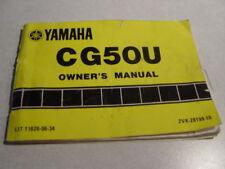 Yamaha scooter Razz Jog cg50u CG 50 owners manual