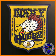 NAVY RUGBY PVC PATCH, UNITED STATES NAVAL ACADEMY RUGBY TEAM UPDATED DESIGN USN