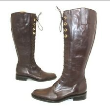 Geox Leather Boots Dark Brown Lined Leather T 40 Top Condition